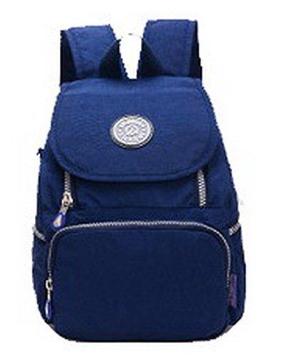 à Mode Sacs Daypacks randonnée à de AllhqFashion Foncé Daypack dos Noir Bleu Femme FBUFBD181237 l'école Aller qtwf5a