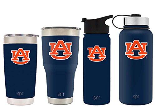 Simple Modern 18oz Summit Water Bottle - Auburn Tigers Vacuum Insulated 18/8 Stainless Steel Travel Mug - Auburn - Tigers Tumbler Mug
