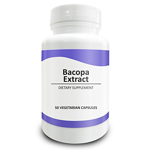Pure Science Bacopa Monnieri Extract 600mg (S.E. 50% Bacosides 320mg & Bacopa Monnieri Powder 280mg) – Improves Memory and Attention, Promotes Relaxation - Non Gluten - 50 Vegetarian Capsules