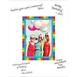 Rainbow Autograph Photo Mat- Fits 5 x 7 inch Photo