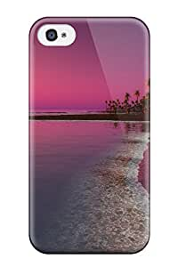 Hot 9075684K33136451 Iphone 4/4s Hard Back With Bumper Silicone Gel Tpu Case Cover Twilight Sunset