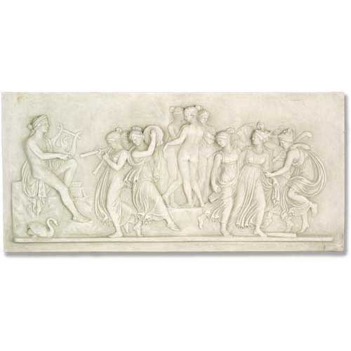 XoticBrands OSFAK158-48A Apollo and Muse Frieze Wall Décor - Apollo Wall Sculpture