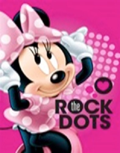 Disney Minnie Mouse Hearts Pink Clubhouse Soft Plush Oversized Twin Size Throw Cloud Blanket Rock The Dots by Disney (Image #1)