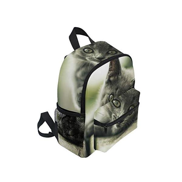 Zaino per la scuola con animali di gatto, per bambini e ragazzi, da 3 a 8 anni 2 spesavip