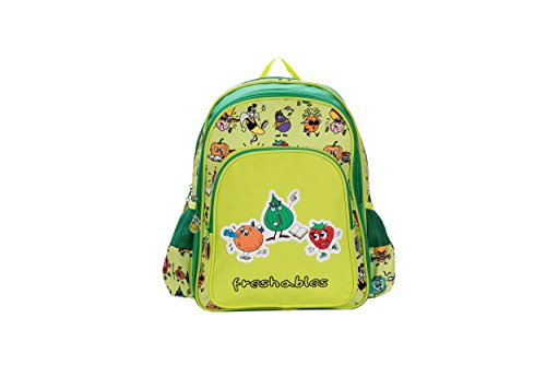 Genius Limited Edition Polyester 46 cms Green Softsided Children's Backpack (FRESHABLES 18 GREEN)