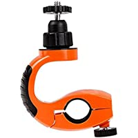 Brain Freezer Xiaomi 360 Degree Tripod J Accessories Bicycle Stand Head Bike Clip Fixed Mount with Adapter and Long Screw (Orange)