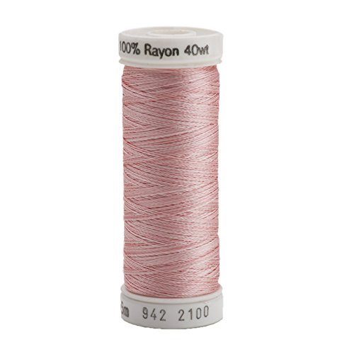 (Sulky 942-2100 Rayon Thread for Sewing, 250-Yard, Vari Pastel Pink)