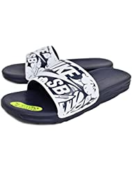 Nike Sb Benassi Tropical Slide Sandals - Obsidian/white
