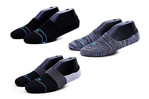 Dynamocks Men's Invisible Cotton Socks (Pack of 3)