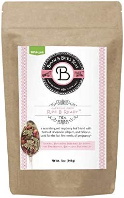 Birds & Bees Teas - Red Raspberry Leaf Tea, Ripe & Ready Organic Third Trimester Tea to Prepare Your Body for Labor and Birth - 40 Servings, 5.0 oz