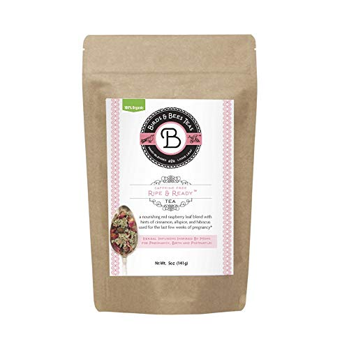 Third Trimester Pregnancy Tea - Red Raspberry Leaf Tea for Labor - Ripe & Ready by Birds & Bees Teas - Essential Birth Prep & Labor Tea! - Best for Expecting and Pregnant Mothers (~40 Servings)