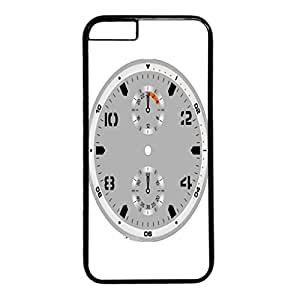 Time Design PC Black Case for Iphone 6 Black Dial Plate