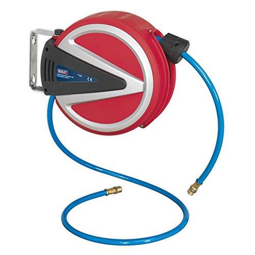 Sealey Retractable Air Hose Reel 6.5mtr 6.5mm ID PU Hose (Sealey Air Hose)