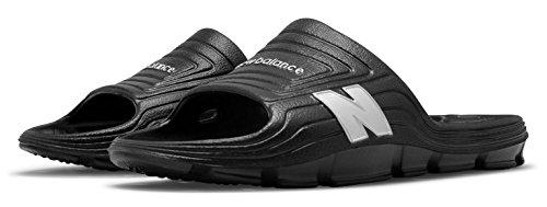 口ひげフライトポーチ(ニューバランス) New Balance 靴?シューズ メンズサンダル Float Slide Black with Silver ブラック シルバー US 9 (27cm)