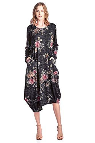 floral asymmetrical maxi dress - 6