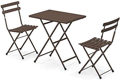 Tavoli E Sedie Da Giardino Emu.Set Arc En Ciel Emu 2 Sedie Pieghevoli Art 314 1 Tavolo