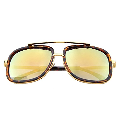G&T Mens Fashion Rectangular metal Frame Dazzle Colour - Online Sea Specs Sunglasses Order
