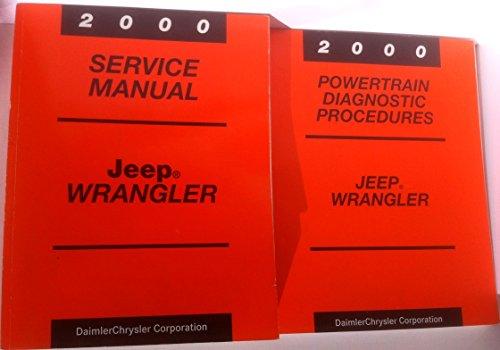 2000 Jeep Wrangler 2-Vol. Set of Factory Service Manuals Dealer Shop Repair Workshop (Main Service Manual and the Powertrain Diagnostic Procedures Manual) (1999 Jeep Wrangler Service Manual)