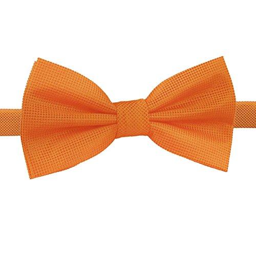 Bow Celosia Pre DQT Orange Check Tied Tie Men Solid xH1WnZC