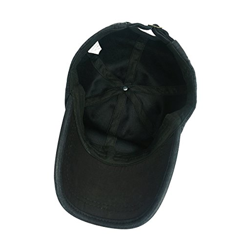 df9f8bcb745 Glamorstar Trendy Baseball Caps Adjustable Distressed Washed Cotton Ball Hat  Black