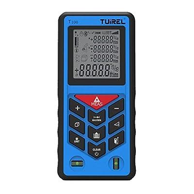 Laser Distance Measurer 328ft/100m Handheld Range Finder Meter Measuring Device Tool Tuirel T100 from Tuirel