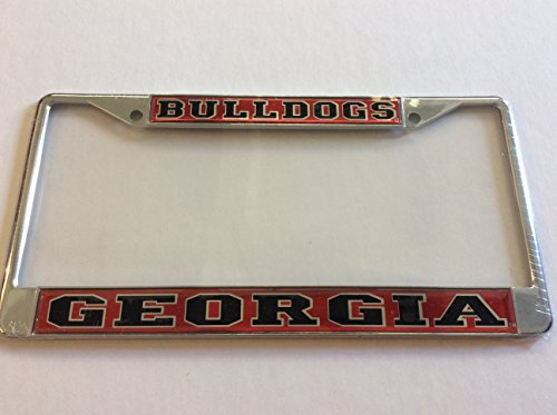 Georgia Bulldogs Domed Mirrored Metal License Plate Frame