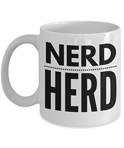 Nerd Herd Mug, Unique Funny Gift for Geeks and Nerds