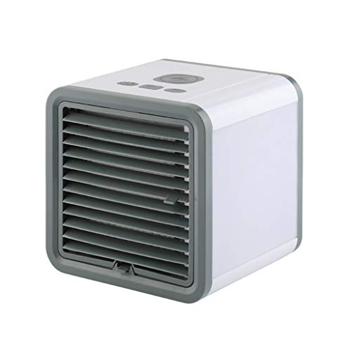 Alimao Indoor Portable Evaporative Cooler,Air Cooler Personal Air Conditioner Cooler, Humidifiers, Portable Mini Size Table Fan for Office (White - 3, Mini)
