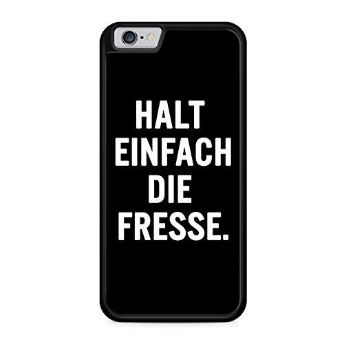 Halt Einfach Die Fresse. Apple iPhone 6 / 6S SILIKON BK Hülle Cover Case Schale Fun Spruch Zitat