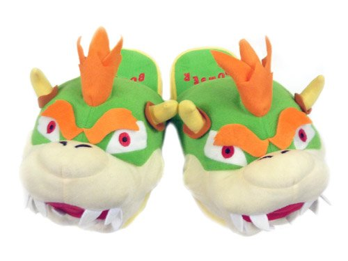 Mario Bro: Pair of Plush Slippers - King - Mario House Shoes