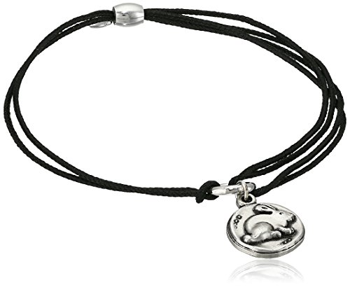 (Alex and Ani Women's Kindred Cord Bunny Bracelet Rafaelian Silver One Size)