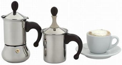 Frabosk Juego Café Macchiato Inoxidable Juego de cafetera 1 Taza + ...
