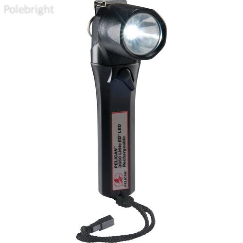 3660 Little Ed Rechargeable LED Flashlight v.2 (Black, With Charger)- Polebright Update