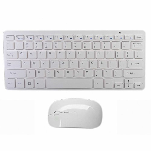 LB1 High Performance New Ultra-Slim Wireless Keyboard and Optical Mouse Combo Portable for Samsung Series 7 DP700A7D-S03US 27-Inch All-in-One Touchscreen Desktop (White)