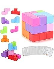 CMaster Magnetische Würfel für Kinder mit 54 Smarte Teile Puzzles 3D Gehirn Training Intelligenz Spielzeug Spiele,Magnetische Bausteine,Perfektes Geschenk für Kinder ab 3 Jahre