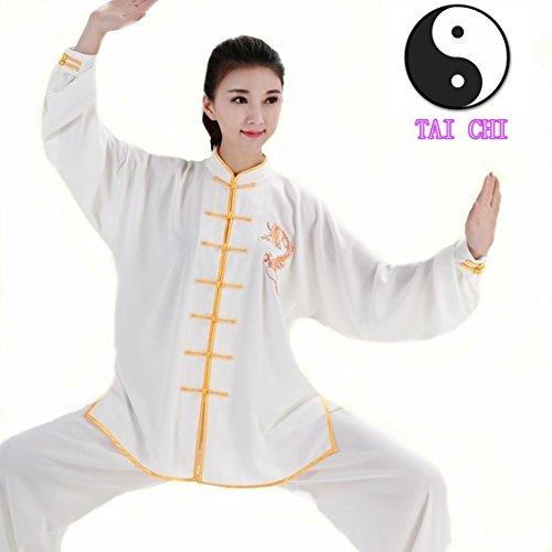 WUYIN Unisex Cotton Silk Tai Chi Uniform Women Silk Tai Chi Kung fu Clothes for Mens Martial Arts Tai Chi Suits Tang Suits Taiji Uniform (S, BDT-1)