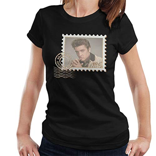 MOUNTS Elvis Presley Stamp Women's T-Shirt Black