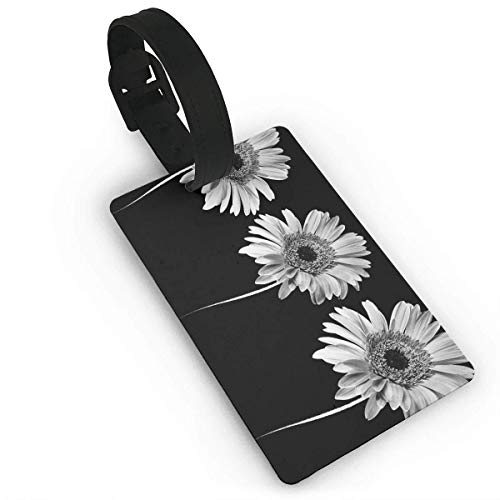 - BeautyToiletLidCoverABC Three Tulips Flower Pattern PVC Travel Luggage Tag Holder Name ID Labels Set for Travel for Women Kids Men Set Cute Cruise Bulk red Fun cat PVC Size 2.2'' X 3.7''