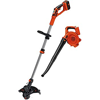 BLACK+DECKER LCC140 40V MAX Lithium Ion String Trimmer and Sweeper Combo Kit