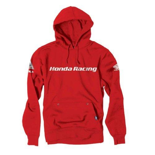 Factory Effex 'Honda Racing' Hooded Pull-over Sweatshirt (Red, X-Large) (16-88374)