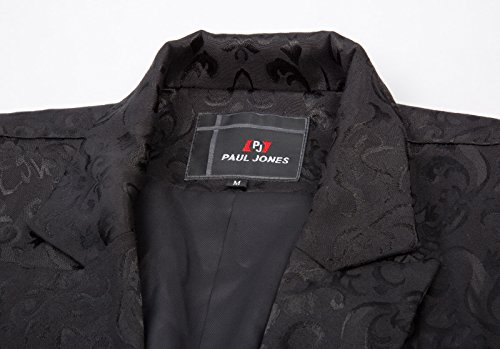 Steampunk Giacca Jacquard Gothic Pauljones Retro Uomo Vintage Coat Da Nero 8NnPwOk0X
