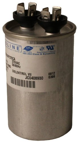 Fasco C4D205 Proline 20 Mfd/5 Mfd 440-volt Dual Microfarad Capacitor with 1.75-Inch Base Size and 2.88-Inch Case Height by Fasco