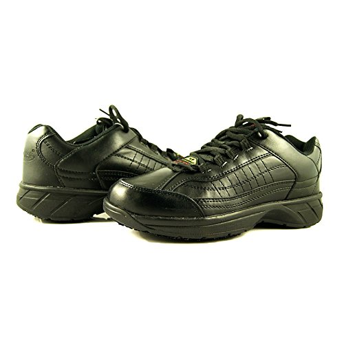 Laforst Emma 4101 Womens Leather and Synthetic Slip Resistant Server Waiter Waitress Nurse Lace Up Athletic Shoes Black Wide 9.5