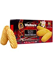 Walkers Shortbread Vanilla Shortbread, Traditional Pure Butter Vanilla Shortbread Cookies, 5.3-Ounce Boxes (Pack of 4)