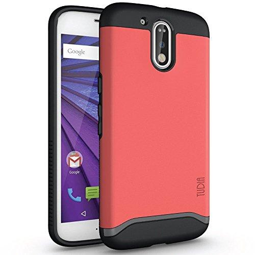 Moto G4 / G4 Plus Case, TUDIA Slim-Fit Heavy Duty [Merge] Extreme Protection/Rugged but Slim Dual Layer Case for Motorola Moto G4 / G4 Plus (Rose)