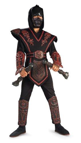Mortal Kombat Costumes For Girls (Deluxe Red Skull Ninja Child Costume)