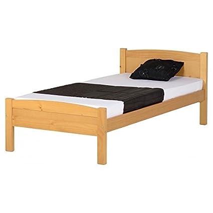 Amazon.com: Seconique Amber Wooden Bed Frame, 3ft Single Bed Frame ...