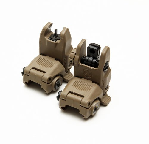 (Magpul MBUS Front & Rear Flip Up Backup Sight GEN 2-247-248 - Flat Dark Earth)