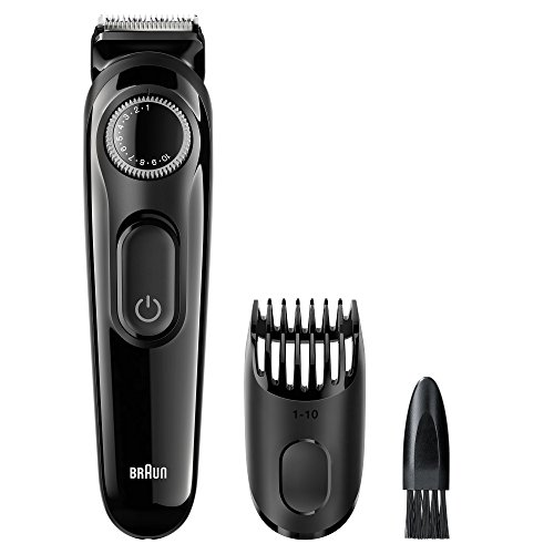 Cordless Washable Beard Trimmer (Braun BT3020 Men's Beard Trimmer, Cordless & Rechargeable, Black)