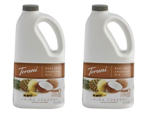 Torani Pina Colada Real Fruit Smoothie Mix (2 Pack), 64 oz by Torani